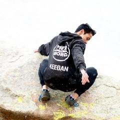 Keegan Benn hanging around