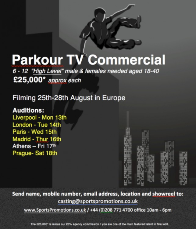 Parkour Video for Commercial
